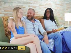 White dude Scott Nails shows huge cock and enjoys fucking black girl Ashley Aleig